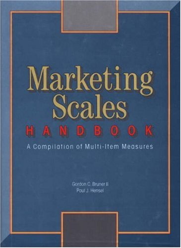 9780877572268: Marketing Scales Handbook: A Compilation of Multi-Item Measures (v. 1)