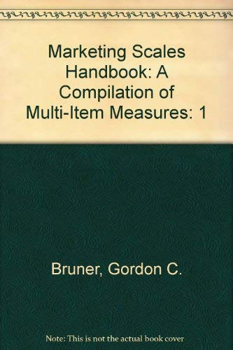 9780877572510: 1: Marketing Scales Handbook: A Compilation of Multi-Item Measures