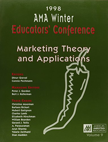 9780877572701: 1998 Ama Annual Winter Educators Conference: Marketing Theory Applications