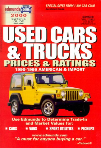 Edmund's Buyers Guide: Used Cars & Trucks: Prices & Ratings; 1989-1998 American & ...