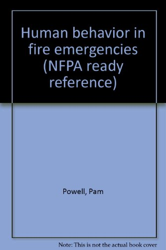 9780877655862: Human behavior in fire emergencies (NFPA ready reference)