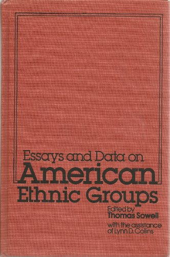 9780877662112: ESSAYS AND DATA ON AMERICAN ETHNIC GROUP