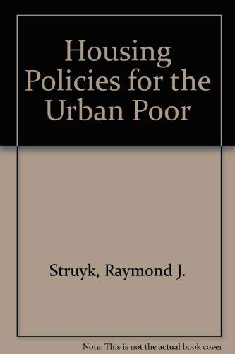 9780877662303: Housing Policies for the Urban Poor