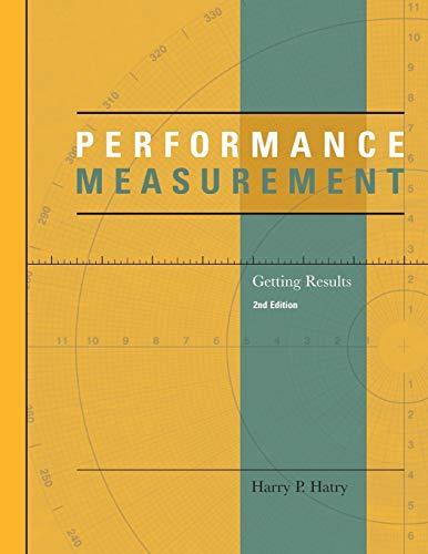 9780877667346: Performance Measurement: Getting Results (Urban Institute Press)