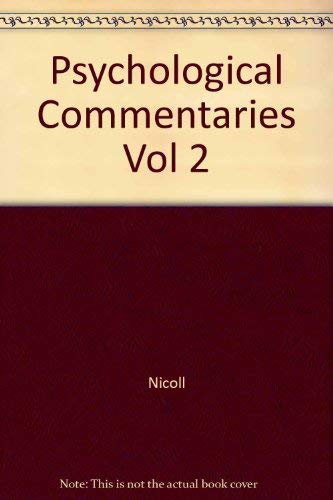 9780877732709: Psychological Commentaries Vol 2