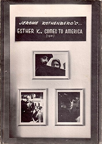 Esther K. Comes to America (1931) (0877750084) by Jerome Rothenberg