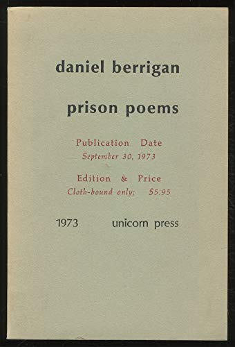 PRISON POEMS.: Berrigan, Daniel.