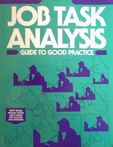 9780877782360: Job Task Analysis: Guide to Good Practice