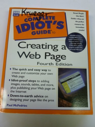9780877784203: The Complete Idiot's Guide to Creating a Web Page