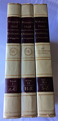 9780877790013: Webster's Third New International Dictionary