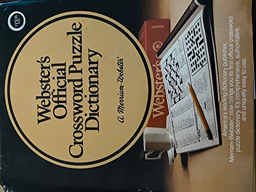 Webster's Official Crossword Puzzle Dictionary: Author?