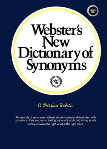 9780877790419: Webster's New Dictionary of Synonyms