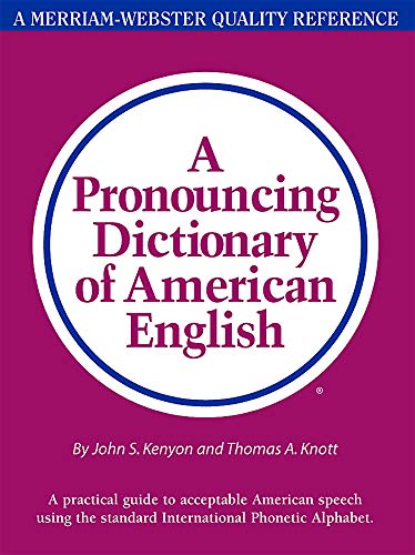 9780877790471: A Pronouncing Dictionary of American English