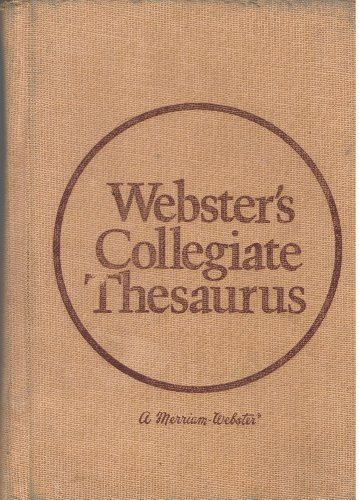 9780877790709: Webster's Collegiate Thesaurus