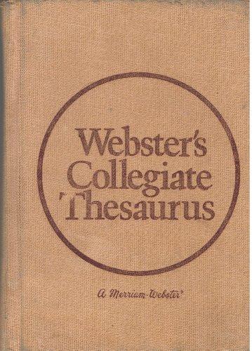 9780877790709: Webster's Collegiate Thesaurus