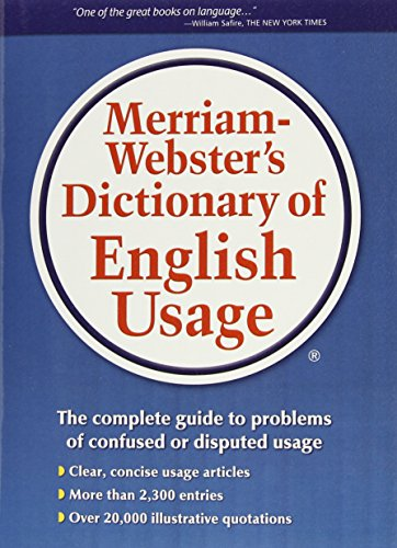 9780877791324: Merriam-Webster's Dictionary of English Usage