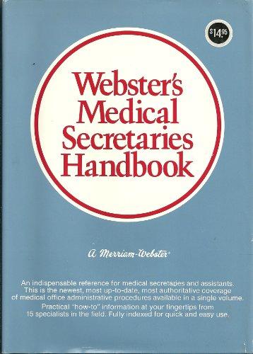 Websters Medical Secretaries Handbook (087779135X) by Webster, Merriam