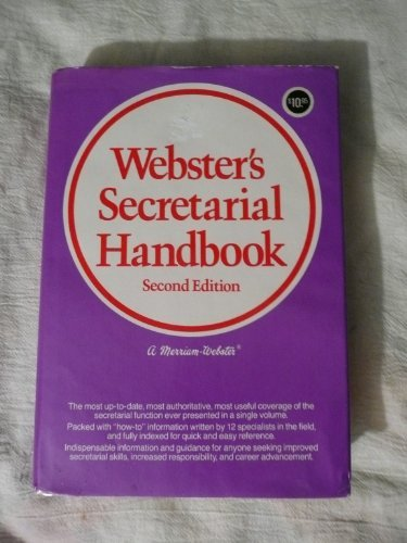 9780877791362: Webster's Secretarial Handbook