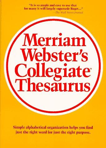 9780877791690: Merriam Webster's Collegiate Thesaurus