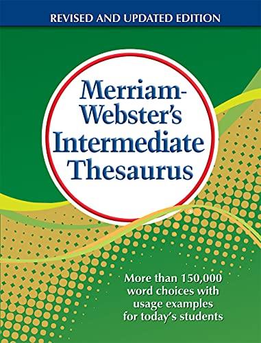 9780877791768: Merriam-Webster's Intermediate Thesaurus, Newest Edition