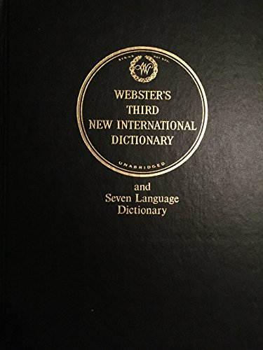 9780877792024: Webster's Third New International Dictionary/Unabridged/Deluxe/Carrying Case