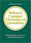 Webster's Compact Dictionary of Quotations: Goldstein, Sharon