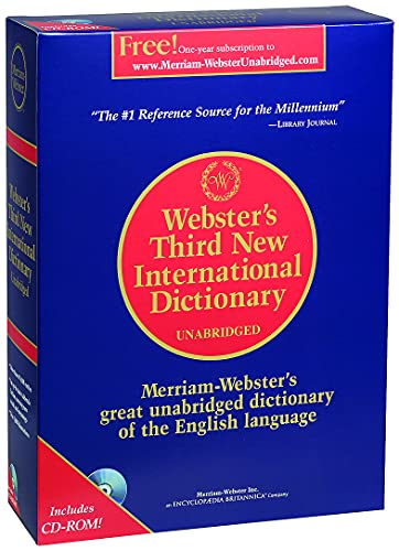 9780877793021: Webster's Third New International Dictionary of the English Language, Unabridged (Book & CD-ROM)