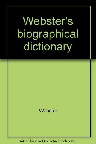 Webster's biographical dictionary: Webster