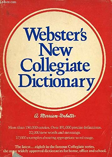 9780877793496: Webster's New Collegiate Dictionary (Indexed)