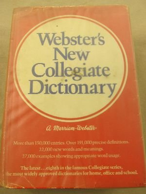 9780877793595: Webster's New Collegiate Dictionary