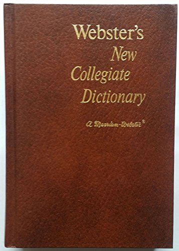 9780877793601: Webster's New Collegiate Dictionary: THUMB INDEXED (Hardcover)