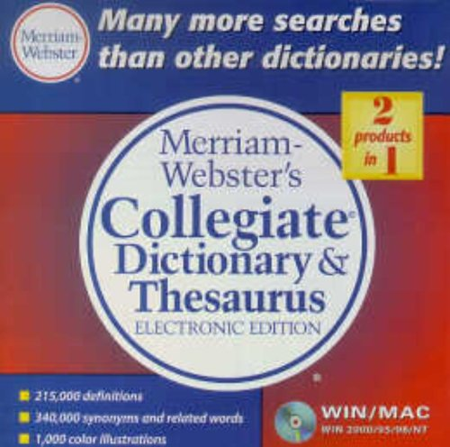 9780877794691: Merriam-Webster's Collegiate Dictionary & Thesaurus, Electronic Edition