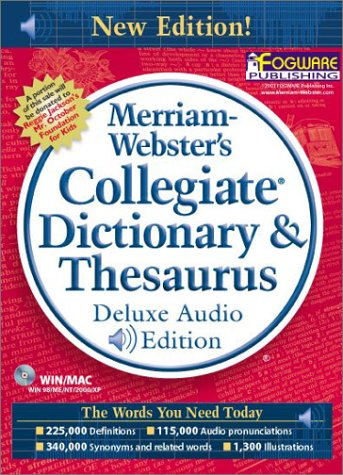 9780877794707: Merriam-Webster's Collegiate Dictionary & Thesaurus, Deluxe Audio Edition (Version 3.0 - 11th Edition)
