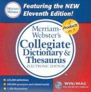 9780877794714: Merriam-Webster's Collegiate Dictionary & Thesaurus, Electronic Edition