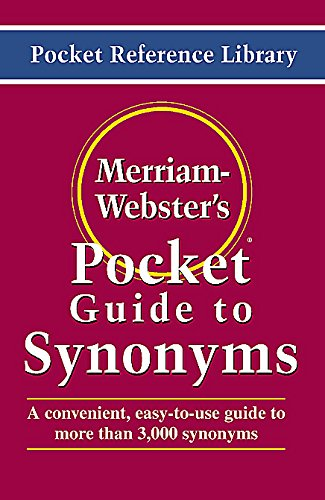 9780877795018: Merriam-Webster's Pocket Guide to Synonyms: Word Choice Made Easy! (Pocket Reference Library)