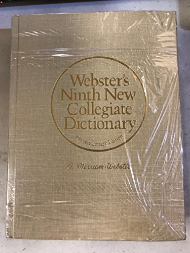 9780877795117: Webster's Ninth New Collegiate Dictionary (Private Library Edition)