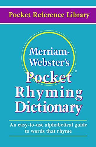 Merriam-Webster's Pocket Rhyming Dictionary (Pocket Reference Library): Merriam-Webster
