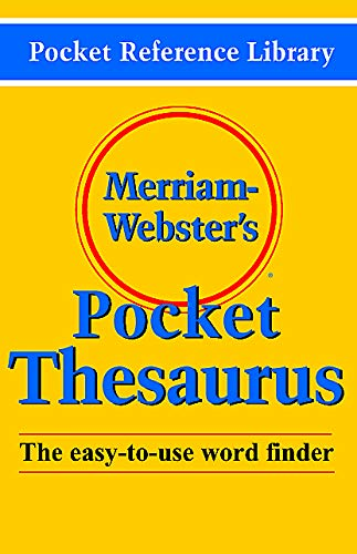 9780877795247: Merriam-Webster's Pocket Thesaurus (Pocket Reference Library)