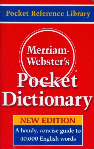 Merriam-webster's Pocket Dictionary: Not Available (NA)