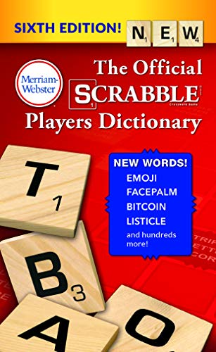 9780877795964: The Official SCRABBLE Players Dictionary, Sixth Ed. (Mass Market Paperback) 2018 Copyright, by Merriam-Webster