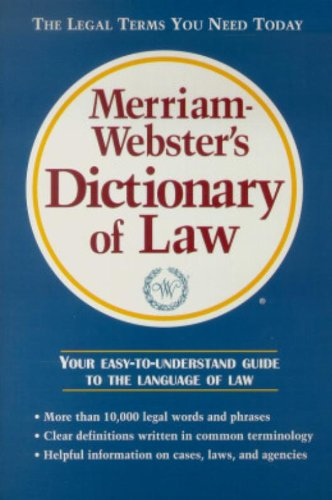 9780877796046: Merriam-Webster's Dictionary of Law