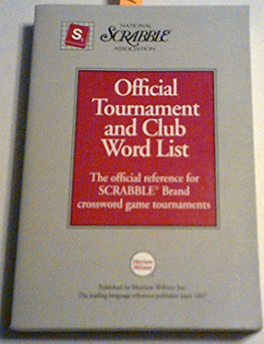 9780877796176: National Scrabble Association Official Tournament and Club Word List