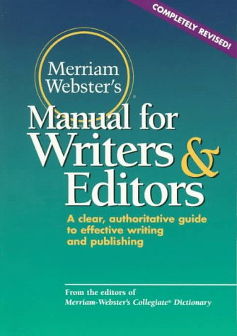 9780877796220: Merriam-Webster's Manual for Writers and Editors