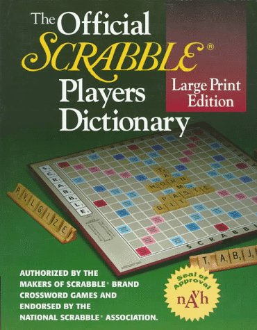 The Official SCRABBLE (r) Players Dictionary, Large Print Edition (0877796238) by Not Available