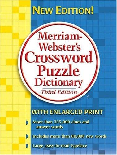 9780877796398: Merriam-Webster's Crossword Puzzle Dictionary