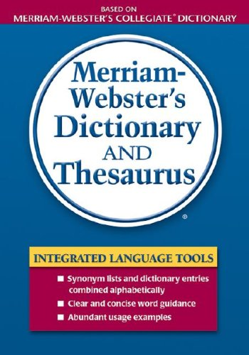 9780877796404: Merriam-Webster's Dictionary and Thesaurus (Dictionary/Thesaurus)