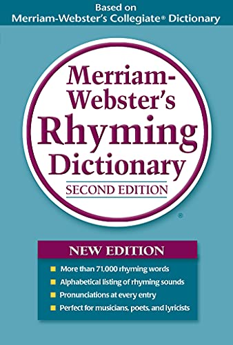 9780877796411: Merriam-Webster's Rhyming Dictionary, New Second Edition, trade paperback