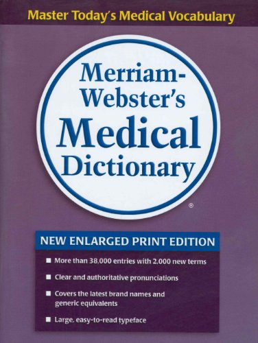 9780877796428: Merriam-Webster's Medical Dictionary, new enlarged print edition