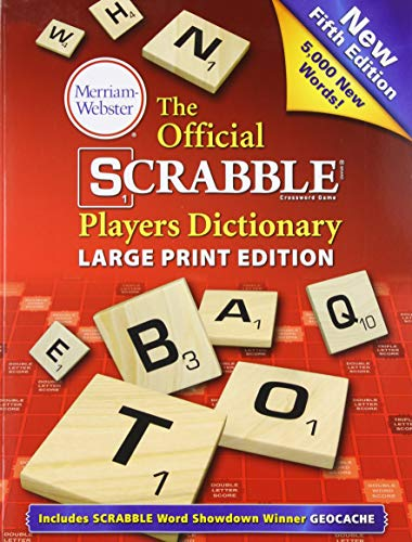9780877796497: The Official Scrabble Players Dictionary, New 5th Edition (large print, paperback) 2014 copyright