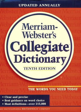 9780877797081: Merriam-Webster's Collegiate Dictionary : 10th edition: Plain Edge